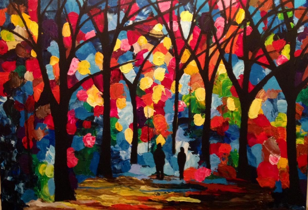 Schilderij | Bloemenbos
